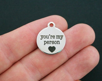 You're My Person Stainless Steel Charm - Exclusive Line - Quantity Options  - BFS573