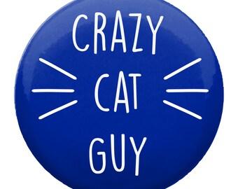 Crazy Cat Guy Badge