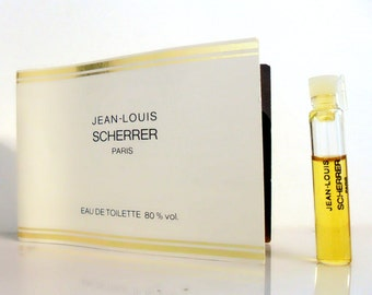 Vintage 1980s Jean-Louis Scherrer 0.05 oz Eau de Toilette Sample on Card PERFUME