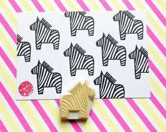 zebra rubber stamp | safari animal stamp | baby shower birthday card making | diy planner | gift for kids | hand carved by talktothesun