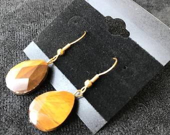Brown Teardrop Earrings