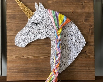 Unicorn String Art Sign