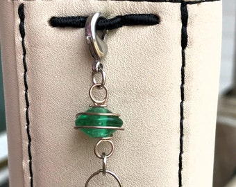 Lucky Green with Wire and beads