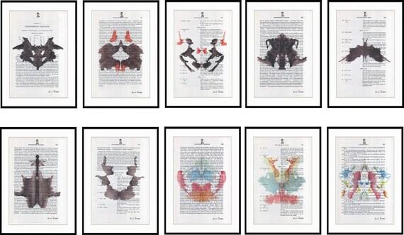 10 prints doctor psychology psychiatry hermann rorschach - Test di rorschach tavola 1 ...