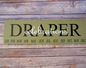 Family Celebration board- Personalized-Family Birthday Board Custom-Sign-Family -Birthday Calendar Custom Wooden Sign - Wedding Gift-