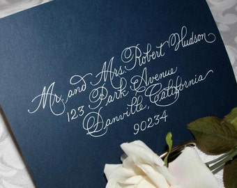 DISCOUNT Calligraphy Wedding Envelope Addressing Burgues Script