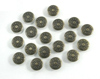 50 sets Antique Brass Vintage Star Buttons Metal Rapid Rivet Stud Decor Fashion Accessories Diy Crafts Sizes 12 mm. STR RV BR 12 081
