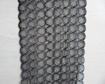 P9 dentelle de france noire large 16cm stock50mt prix 6usd/1mt