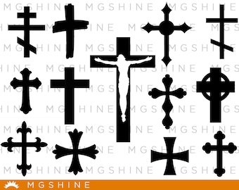 Cross SVG cutting files for Cricut and Silhouette Cameo - Cross png clipart - Cross dxf vector files - TS44