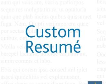 Custom Resume