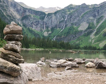 Tranquil Avalanche Lake Fine Art Photo Print - Glacier National Park, inspiring nature photography