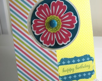Bright Flower Flip Card