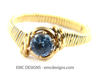 6mm Birthstone Ring in 14 Karat Gold Filled Wire