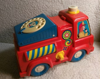 Vintage Fisher Price Fire Truck