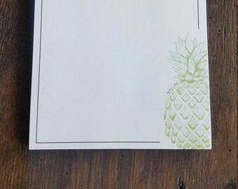 Personalized Notepad, Pineapple Memo Pad, Personalized Stationery, Monogram Stationary Pads, Personalized gift, Memo Pad, Monogrammed, RD033