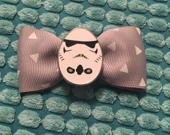 Star Wars Stormtrooper hair bow clip Disney