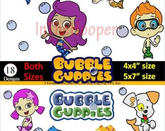 BUBBLE GUPPIES EMBROIDERY Designs Pes, Hus, Jef, Dst, Exp, Jef+, Vip, Vp3, Xxx