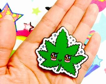 kawaii mary jane pin! Badge, pin, kawaii pin, kawaii badge, 420, hash, ganja