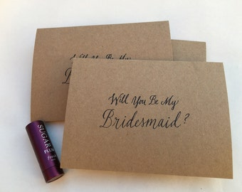 Will you be my Bridesmaid? /Greeting Card / set of 10