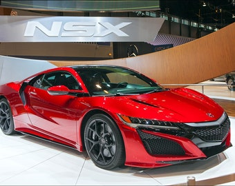 Acura NSX Automobile Autoshow Art Print Wall Decor Image - Unframed Poster