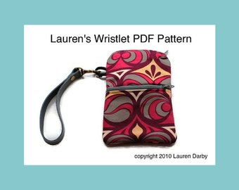 PDF Wristlet Pattern Bag Tutorial Zipper Wristlet Two Pocket Bag Pattern