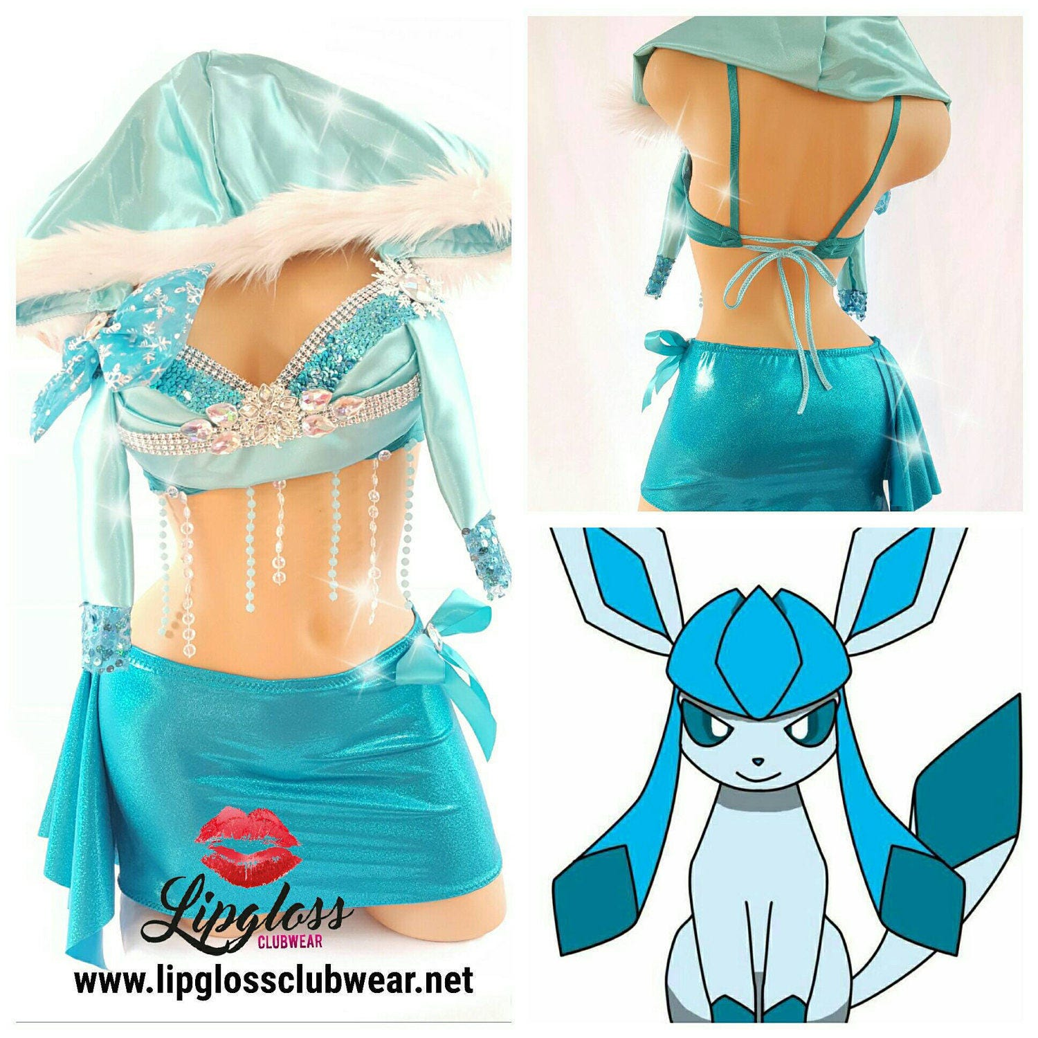 Pokemon Glaceon Costume Sexy Pokemon Costume Cosplay-2889