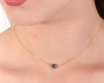 vaults necklace sodalite crystal