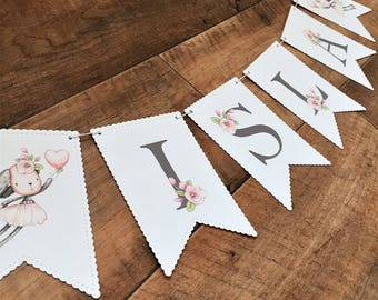 Bunny Bunting, Personalised Bunting, Bunny Banner, Personalised Banner