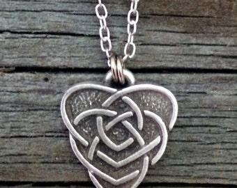 Celtic Motherhood Knot Necklace   Celtic Jewelry   Irish Jewelry   Scottish Jewelry   Handcrafted Jewelry   Fine Pewter by Treasure Cast