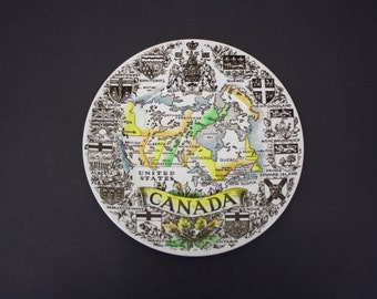 Vintage Wood & Sons Canada Travel Plate (E7806)
