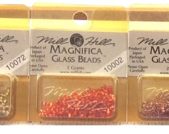 Magnifica Glass Bead Packs by Mill Hill (4.54 grams Original packaging)