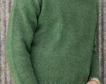 PDF Knitting Pattern Glasgow Top-Down Pullover #105