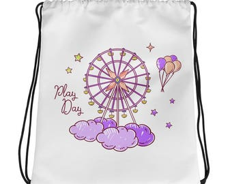 NAHLI Play Day Purple Drawstring bag