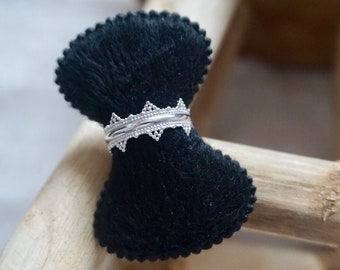 Crown ring in 925 sterling silver