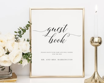 Printable Guestbook Sign Template Wedding Guestbook Sign