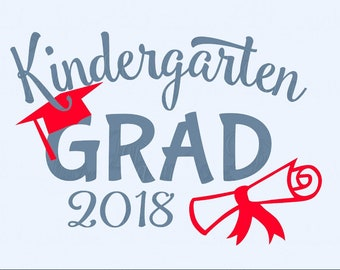 Kindergarten grad DIY T-shirt Iron on decal