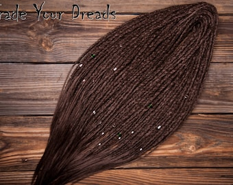 Free Shipping! Choice of colors! Long Double Ended Synthetic Dreads, Full Set, Crochet Dreadlock, Single Ended Dreadlocks