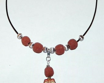 Oil Diffuser Lava Rock Necklace with Removable Owl Charm