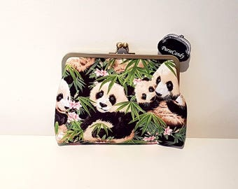 PANDA LOVE - Beautiful panda clutch bag