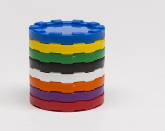10 Stackable Counters, Blank Poker Chips