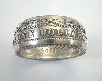 Sizes 14 - 19. Coin Ring. Morgan Silver Dollar, Place Your Custom Order Here.