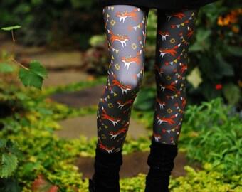 Fox print leggings YOGA PANTS digitally printed Supayana