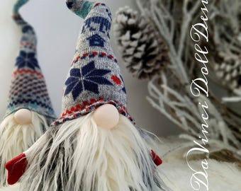 Nordic Gnome Swedish Tomte Christmas SANTA Sockerbit decoration  DaVinciDollDesigns Christmas Collection©