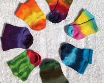Tie Dye Bamboo Socks for Infants and Toddlers