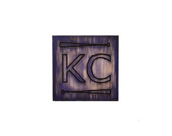 Kansas City Pride Plaque, KC Bats, Custom Kansas City Wall Art, KC Pride, Hometown Pride, Kansas City Plaque, Kansas City Wall Decor