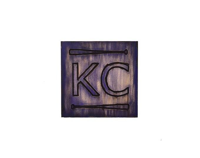 Kansas City Pride Plaque, KC Bats, Custom Kansas City Wall Art, KC Pride, Hometown Pride, Kansas City Plaque, Kansas City Wall Decor