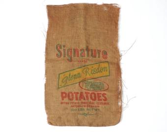 Burlap Potato Sack Vintage