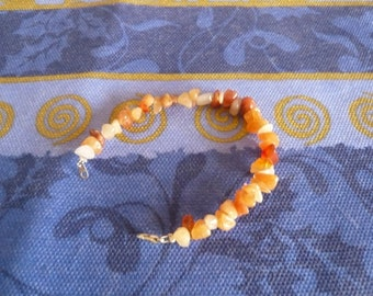 Pretty gemstone (chips) carnelian Bracelet