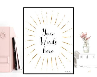 Custom wall art decor, Custom poster, Custom quote print, Favorite quote, Personalized poster, Design poster quote, Modern typography quote