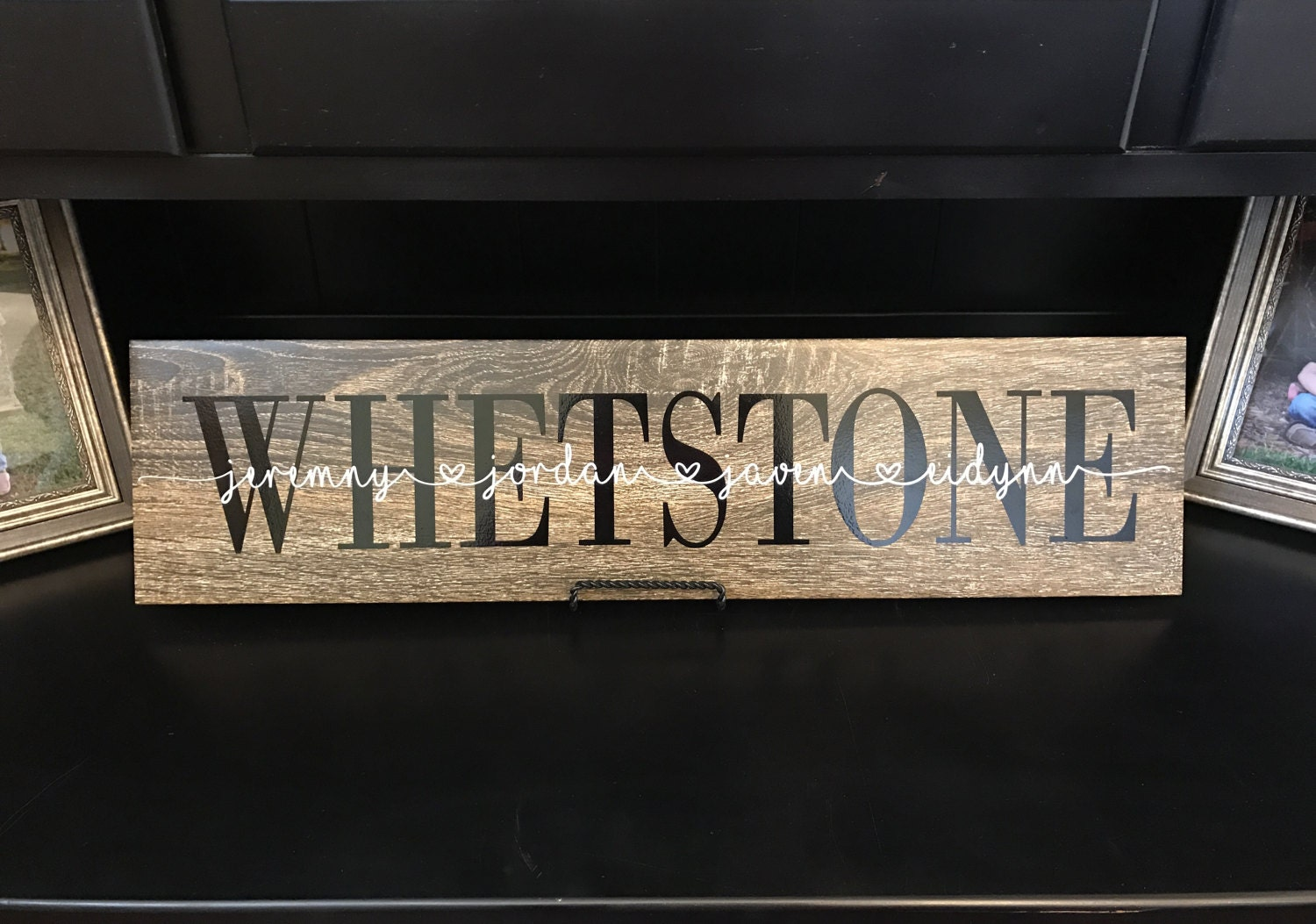 Personalized ceramic wood tile sign last name faux wood sign personalized ceramic wood tile sign last name faux wood sign oak style wood tile sign family names wall decor dailygadgetfo Choice Image